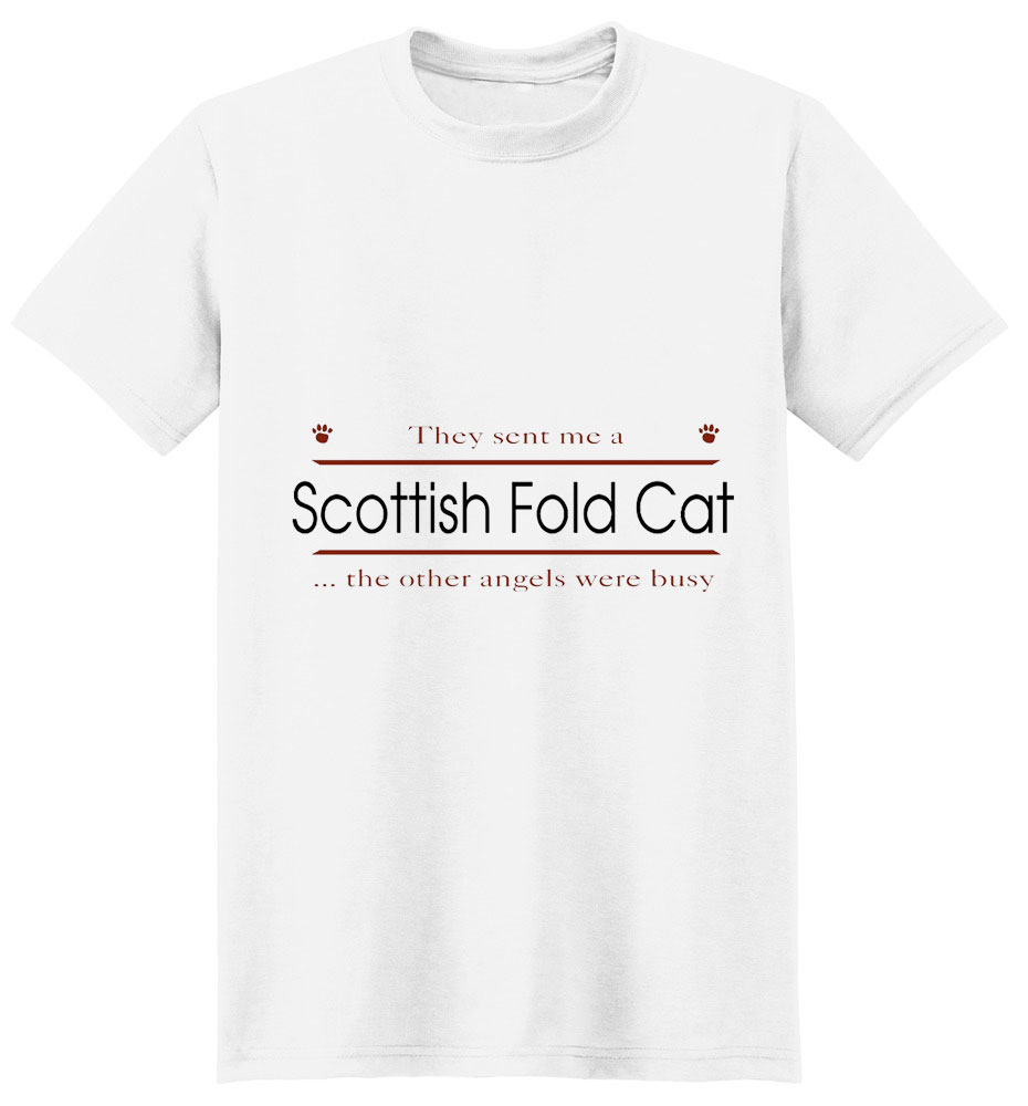 Scottish Fold Cat T-Shirt - Other Angels
