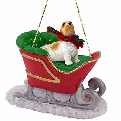 Basset Griffon Vendeen Sleigh Ride Christmas Ornament