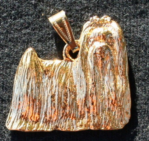 Maltese 24K Gold Plated Pendant Show Cut
