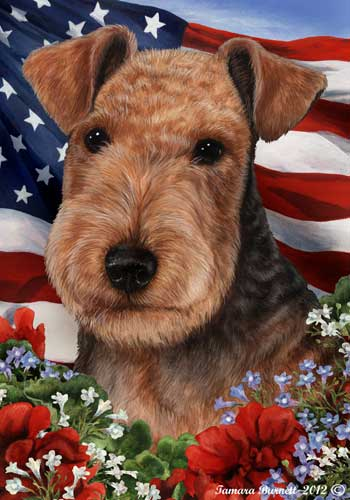 Lakeland Terrier House Flag