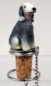 Bedlington Terrier Bottle Stopper