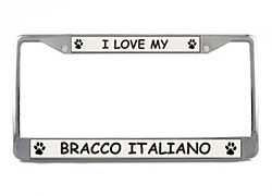 Bracco Italiano License Plate Frame