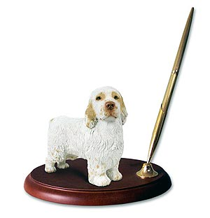 Clumber Spaniel Pen Holder
