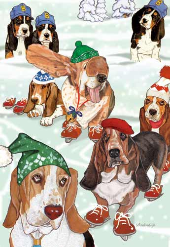 Basset Hound Christmas Cards Bassets On Ice