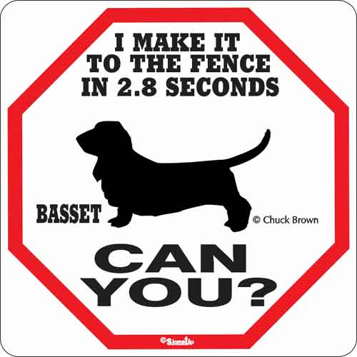 Basset 2.8 Seconds Sign