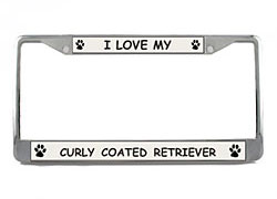 Curly Coated Retriever License Plate Frame