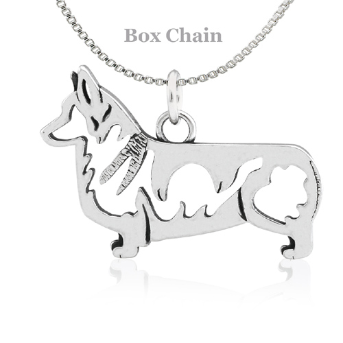 Sterling Silver Corgi Pembroke Necklace