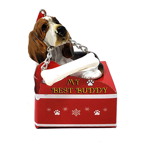 My Best Buddy Basset Hound Christmas Ornament