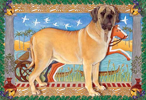 Mastiff Christmas Cards