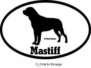 Mastiff Bumper Sticker Euro