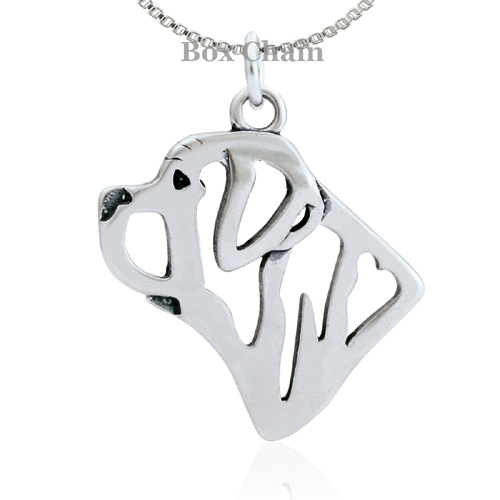Sterling Silver Mastiff Necklace