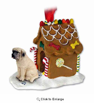 Mastiff Gingerbread House Christmas Ornament