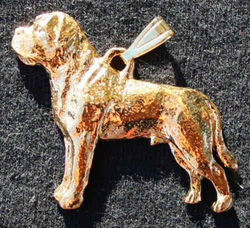 Mastiff 24K Gold Plated Pendant