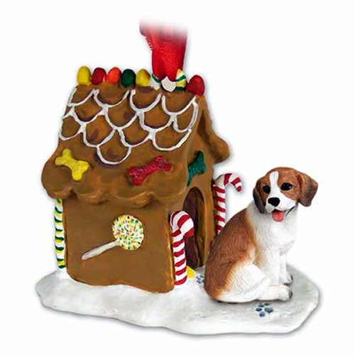 Beagle Gingerbread House Christmas Ornament