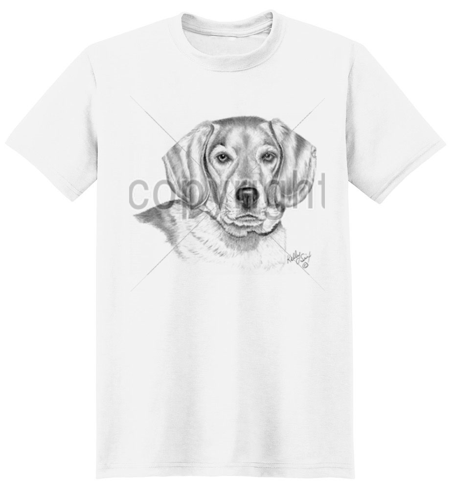Beagle T Shirt by Kelly Six