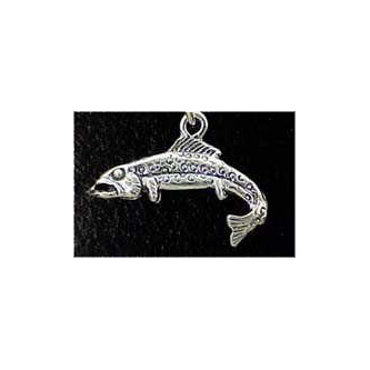 Trout Sterling Silver Charm