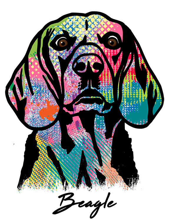 Beagle T Shirt Colorful Abstract