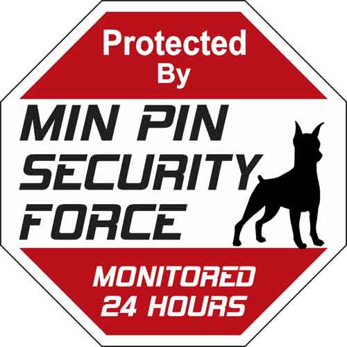 Min Pin Security Force Sign