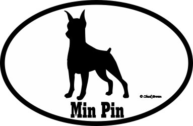 Miniature Pinscher Bumper Sticker Euro