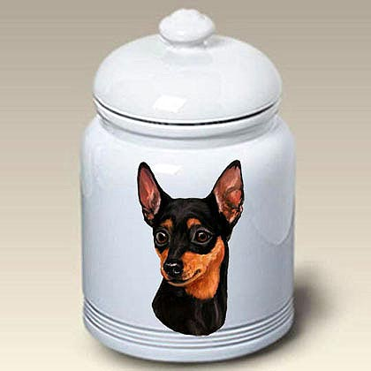 Miniature Pinscher Treat Jar