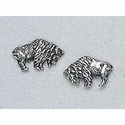 Buffalo Earrings Sterling Silver