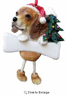 Beagle Christmas Tree Ornament - Personalize