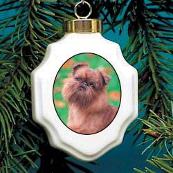 Brussels Griffon Christmas Ornament Porcelain