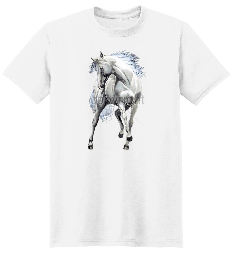 White Horse T Shirt Excited