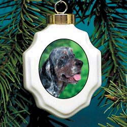 English Setter Christmas Ornament Porcelain