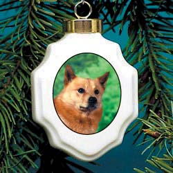 Finnish Spitz Christmas Ornament Porcelain