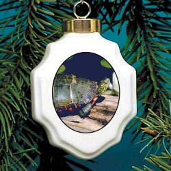 Turtle Christmas Ornament Porcelain