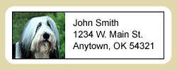Bearded Collie Address Labels