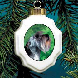 Sealyham Terrier Christmas Ornament Porcelain