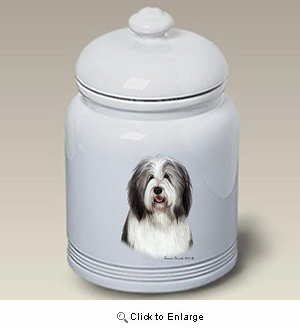 Bearded Collie Treat Jar
