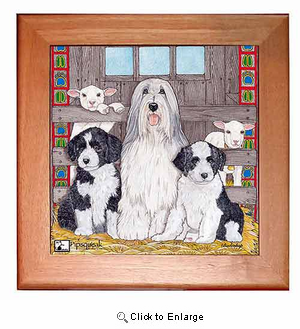 Bearded Collie Trivet