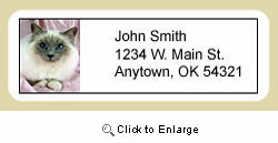 Birman Cat Address Labels