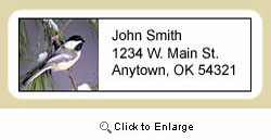 Chickadee Address Labels