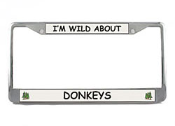 Donkey License Plate Frame