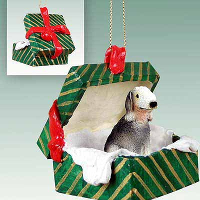 Bedlington Terrier Gift Box Christmas Ornament