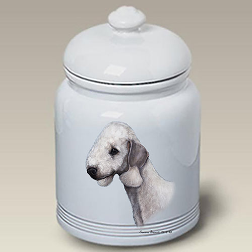 Bedlington Terrier Treat Jar