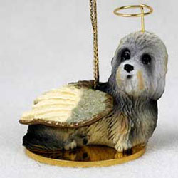 Dandie Dinmont Christmas Ornament Angel