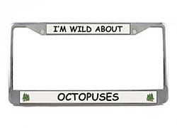 Octopus License Plate Frame