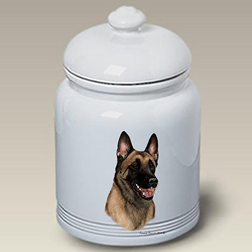 Belgian Malinois Treat Jar