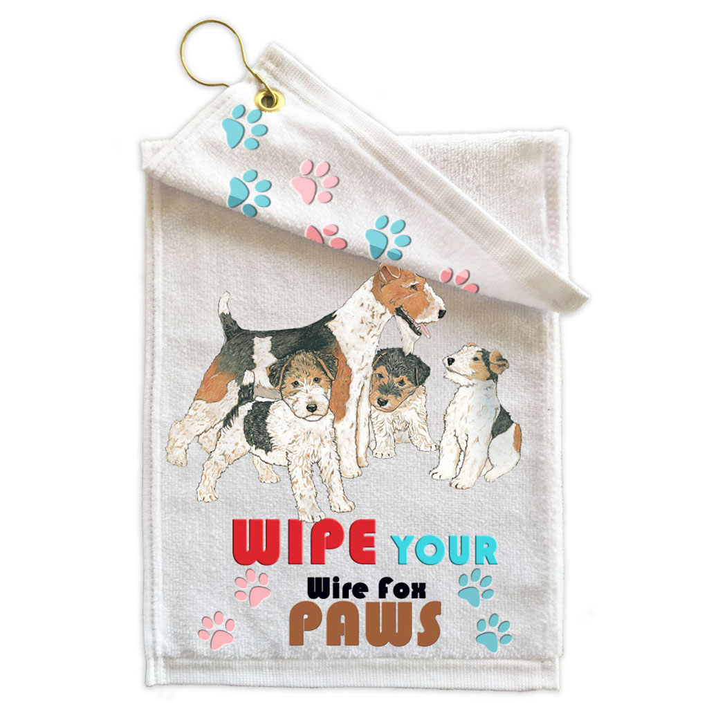 Wire Fox Terrier Paw Wipe Towel