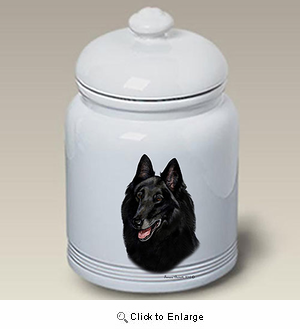 Belgian Sheepdog Treat Jar