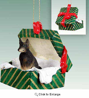 Belgian Tervuren Gift Box Christmas Ornament