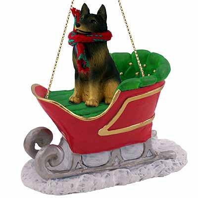 Belgian Tervuren Sleigh Ride Christmas Ornament