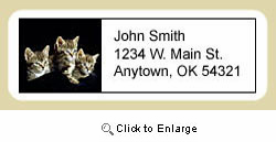 Tabby Cat Address Labels