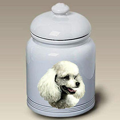 White Poodle Treat Jar