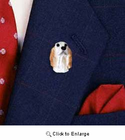 English Setter Pin Hand Painted Resin